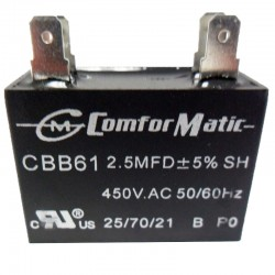 COMFORMATIC RUN CAPACITORS 450VAC